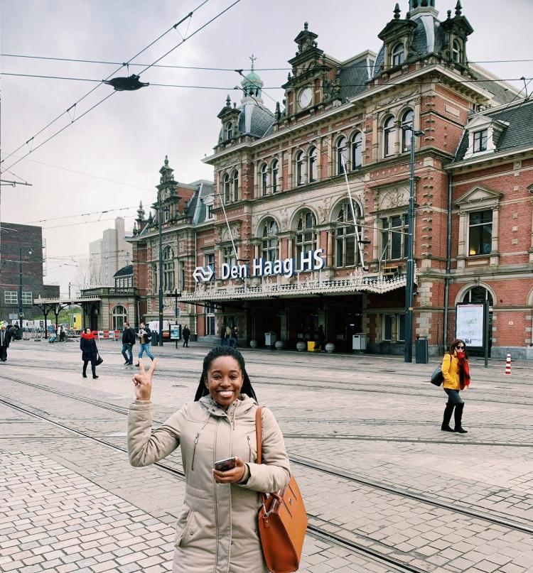 black female travel the Hague Netherlands