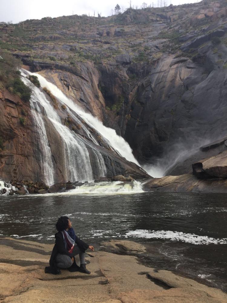 Exploring Ézaro Falls in Galicia Spain