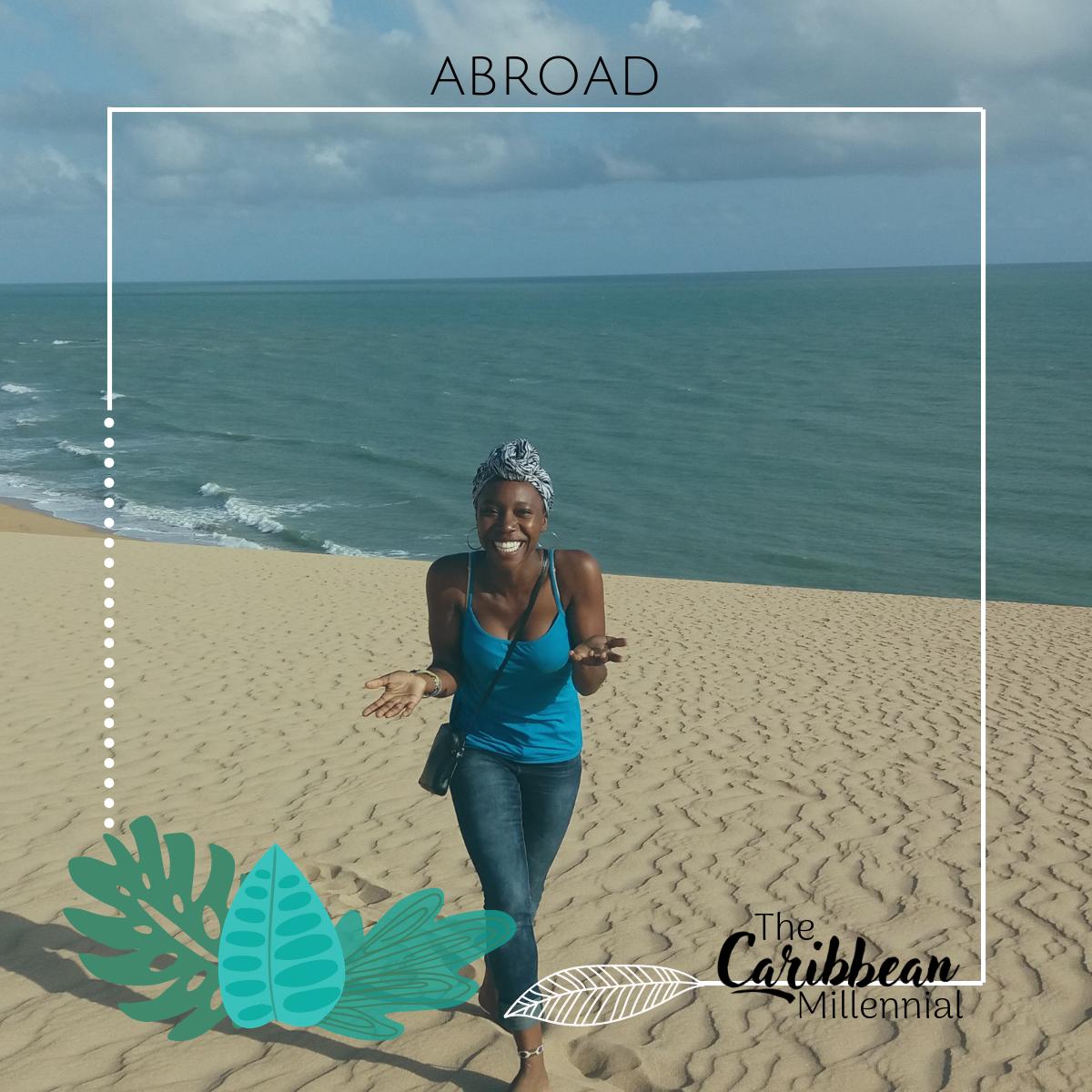black woman travel desert Colombia